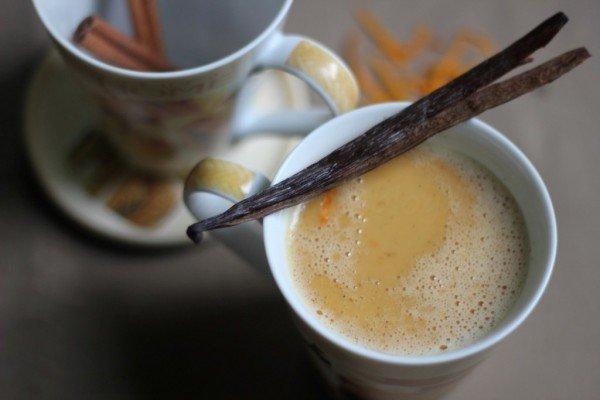 karamellizált fehér forró csoki